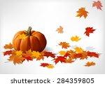 Autumn And Pumpkins White...
