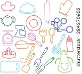 kitchen icon. | Shutterstock . vector #284370602