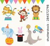 vector illustrations of animals ... | Shutterstock .eps vector #284372798