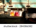 tail light of truck | Shutterstock . vector #284386382