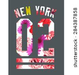 new york city vector art | Shutterstock .eps vector #284387858