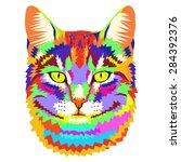 vector geometric portrait of a... | Shutterstock .eps vector #284392376