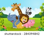 collection of animal africa | Shutterstock . vector #284394842