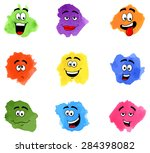 vector illustration of color... | Shutterstock .eps vector #284398082
