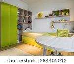teenage boy room   Shutterstock . vector #284405012
