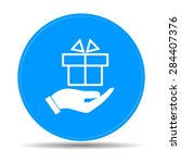hand and gift vector icon. eps... | Shutterstock .eps vector #284407376