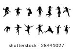 happy kids jumping collection   Shutterstock .eps vector #28441027