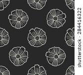 flower doodle seamless pattern...   Shutterstock . vector #284416322