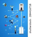 illustration of teamwork ... | Shutterstock . vector #284416718