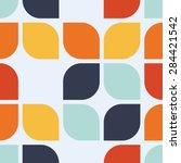 seamless geometric vintage... | Shutterstock .eps vector #284421542