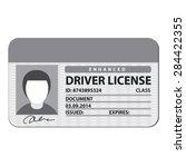 driver license | Shutterstock .eps vector #284422355