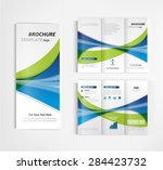 brochure template design vector | Shutterstock .eps vector #284423732