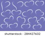 vector heart shapes | Shutterstock .eps vector #284427632