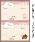 blank cake themed recipe cards... | Shutterstock .eps vector #284430425