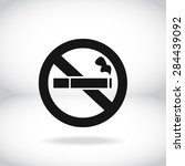 no smoke icon. stop smoking... | Shutterstock .eps vector #284439092