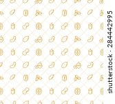 nuts seamless pattern   stock... | Shutterstock .eps vector #284442995