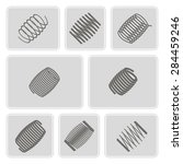 set of monochrome icons with... | Shutterstock .eps vector #284459246