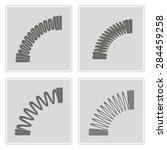 set of monochrome icons with... | Shutterstock .eps vector #284459258