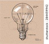 vector sketch illustration  ... | Shutterstock .eps vector #284459942