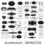 set of calligraphic elements... | Shutterstock .eps vector #284462762