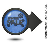 winter sale circular icon on... | Shutterstock . vector #284464856