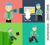 set of businessman pose... | Shutterstock .eps vector #284472848