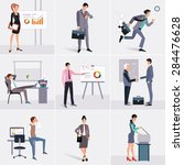 business process infographics... | Shutterstock .eps vector #284476628