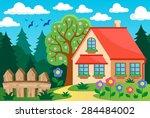 garden and house theme... | Shutterstock .eps vector #284484002