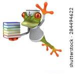 fun frog | Shutterstock . vector #284494622