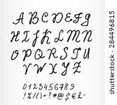 watercolor calligraphic... | Shutterstock .eps vector #284496815