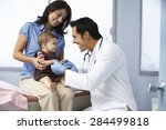 doctor in surgery examining... | Shutterstock . vector #284499818