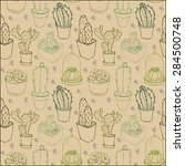 seamless pattern with different ... | Shutterstock .eps vector #284500748