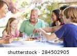 multi generation family... | Shutterstock . vector #284502905
