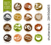 nuts icon set | Shutterstock .eps vector #284506805