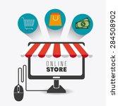 shopping design over white... | Shutterstock .eps vector #284508902