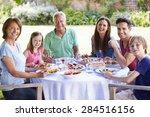 multi generation family... | Shutterstock . vector #284516156