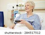 senior female patient watching... | Shutterstock . vector #284517512