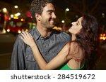 couple enjoying night out... | Shutterstock . vector #284519672