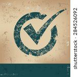 checking design on old paper... | Shutterstock .eps vector #284526092
