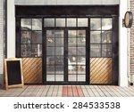 3d rendering of restaurant... | Shutterstock . vector #284533538
