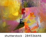 abstract multicolor layer... | Shutterstock . vector #284536646