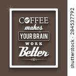 coffee poster. eps10. | Shutterstock .eps vector #284537792