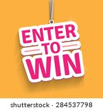 enter to win. eps10. | Shutterstock .eps vector #284537798