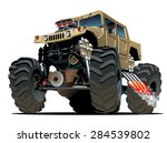 cartoon monster truck.... | Shutterstock .eps vector #284539802