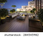 Roof   Terrace In A Modern...