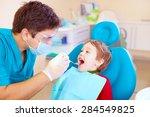 small kid  patient visiting... | Shutterstock . vector #284549825