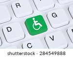web accessibility online on... | Shutterstock . vector #284549888