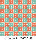 retro flower seamless pattern | Shutterstock .eps vector #284550152