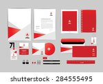 red and white with triangle... | Shutterstock .eps vector #284555495