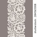 white lace. vertical seamless... | Shutterstock .eps vector #284565308